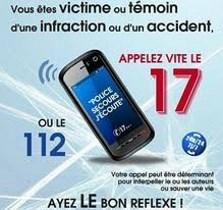 Appel urgence 17 ou 112