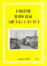 Bulletin municipal Satolas-et-Bonce 1985