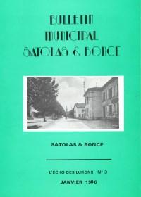 Bulletin municipal Satolas-et-Bonce 1986