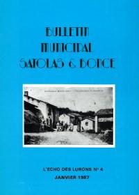 Bulletin municipal Satolas-et-Bonce 1987
