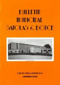 Bulletin municipal Satolas-et-Bonce 1988