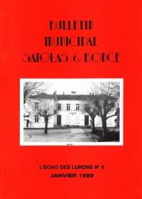 Bulletin municipal Satolas-et-Bonce 1989