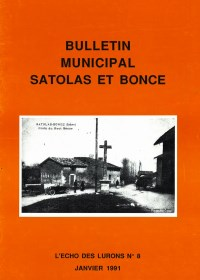 Bulletin municipal Satolas-et-Bonce 1991
