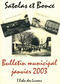 Bulletin municipal Satolas-et-Bonce 2003