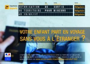 Démarche autorisation de sortie du territoire pour les mineurs Satolas-et-Bonce