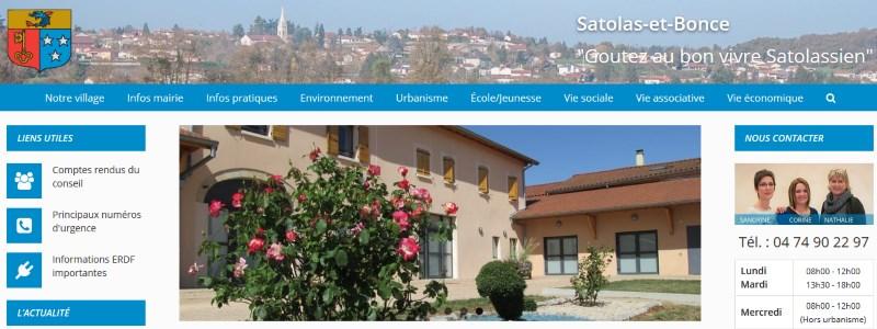 Lancement nouveau site mairie Satolas-et-Bonce