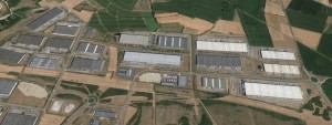 Vue aérienne zone activité de Chesnes Satolas-et-Bonce