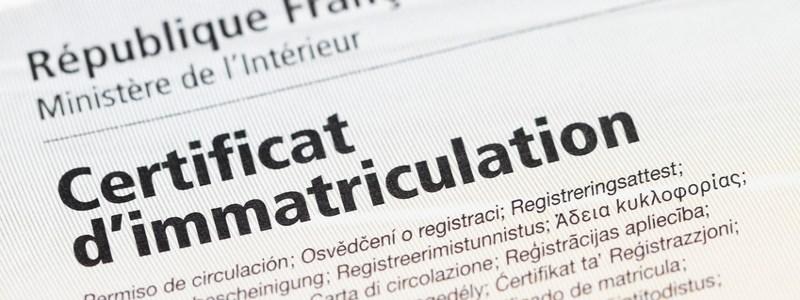 Certificat d'immatriculation à La Tour du Pin à partir du 1er août 2016
