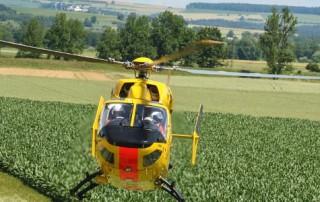 Surveillance ligne haute tension par hélicoptère