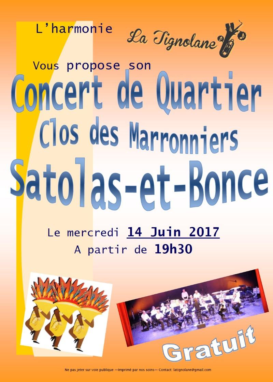 Concert de Quartier le 14 juin 2017