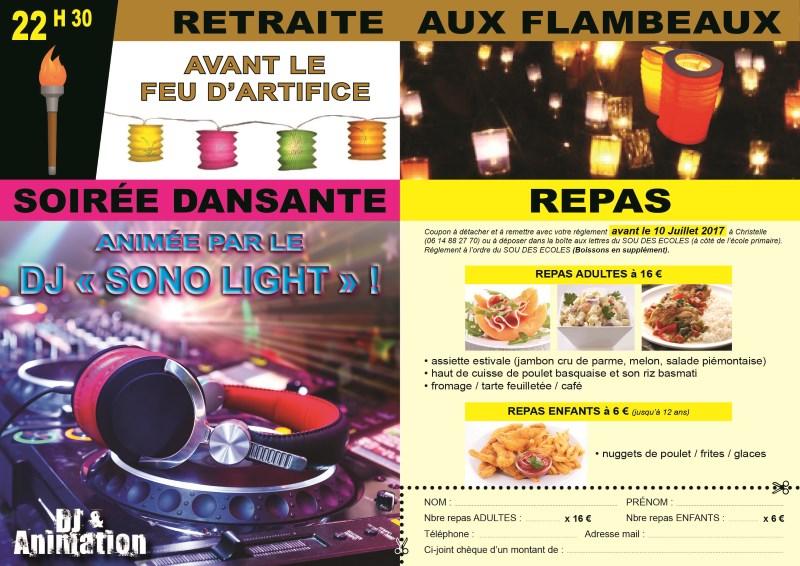 Retraite aux flambeaux Satolas-et-Bonce juillet 2017