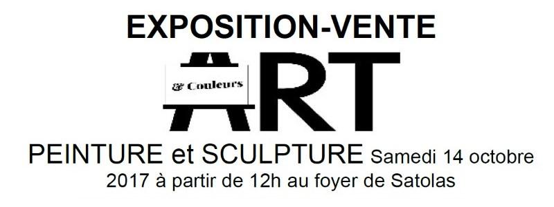 Exposition Art et Couleurs association 14 octobre 2017