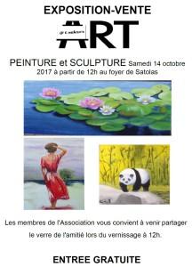 Poster exposition Art et Couleurs association 14 octobre 2017