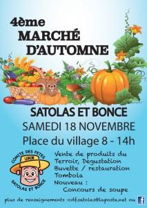 Poster marché d'automne novembre 2017