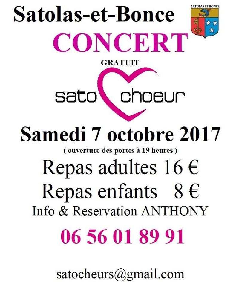 Concert Satochoeur octobre 2017