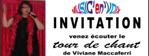 Invitation Tour de Chant Viviane Maccaferri