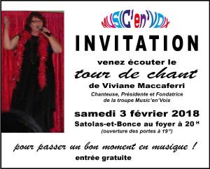 Poster Invitation Tour de Chant Viviane Maccaferri