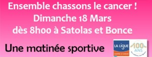 Annonce Ensemble Chassons le cancer mars 2018