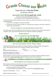 Formulaire 2018 chasse aux oeufs