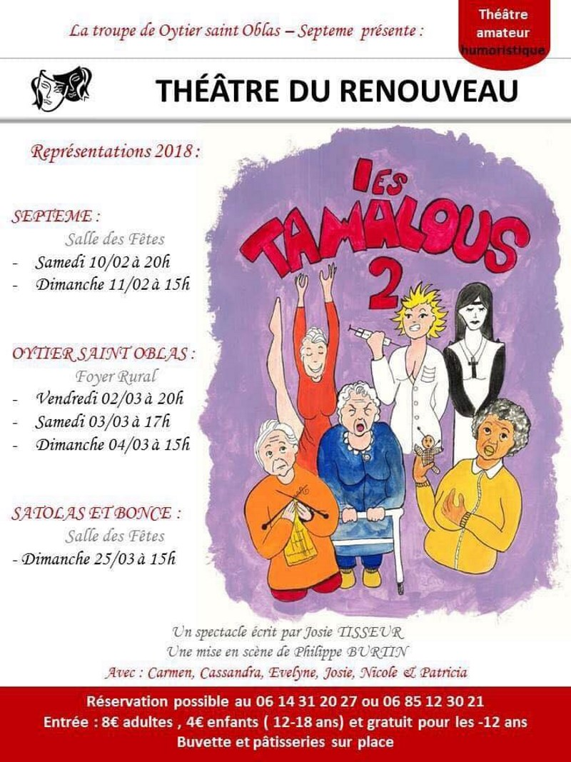 Poster Après-midi théâtre avec le basket Club de Satolas et Bonce