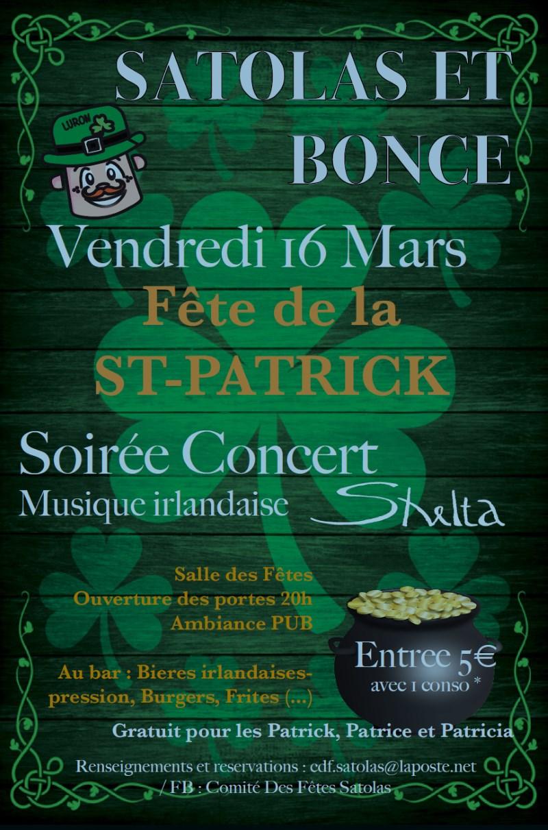 Poster Fête de la Saint-Patrick à Satolas-et-Bonce