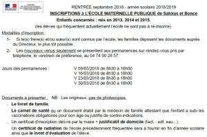 Texte entrée maternelle Satolas-et-Bonce 2018