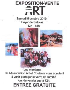 poster-exposition-vente-association-art-et-couleurs-octobre-2019